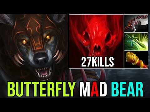 MAD BEAR BUTTERFLY IS SO GOOD [Ursa] Unstoppable GodLike Mod 27Kills By Ame 7.19 | Dota 2 FullGame