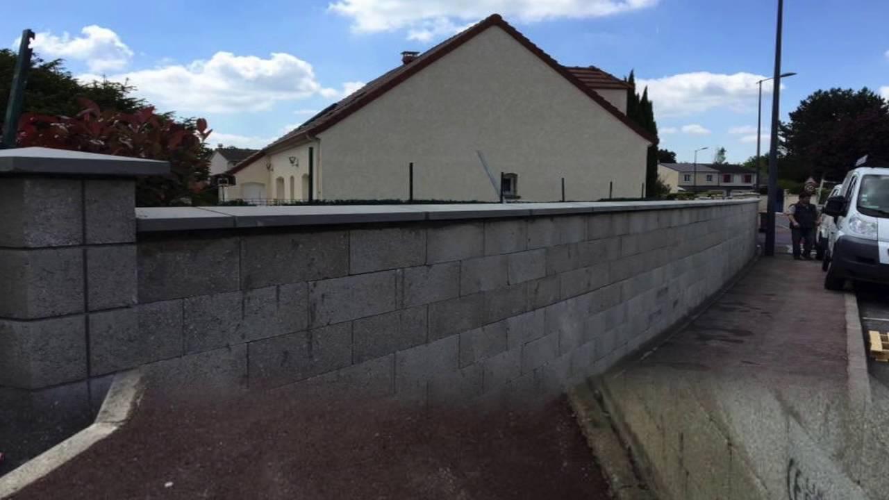Cr ation d 39 un mur en limite de propri t youtube - Mur en limite de propriete droit ...