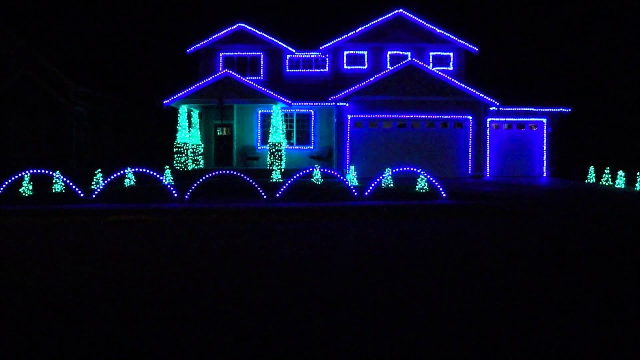 Seahawks Tribute 2013 by Emerald Way Lights - YouTube