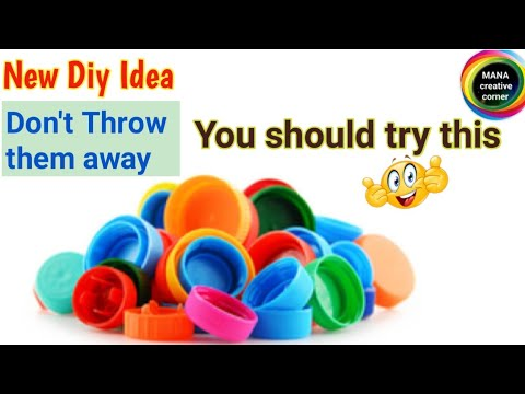 Best out of waste from plastic bottle caps#Waste plastic bottle caps reuse idea#plastic bottle lids