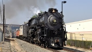 Santa Fe 3751 Steam Train to San Bernardino Railroad Days 2013
