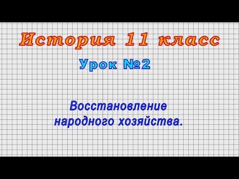 История 11 класс (Урок№2 - Восстановление народного хозяйства.)