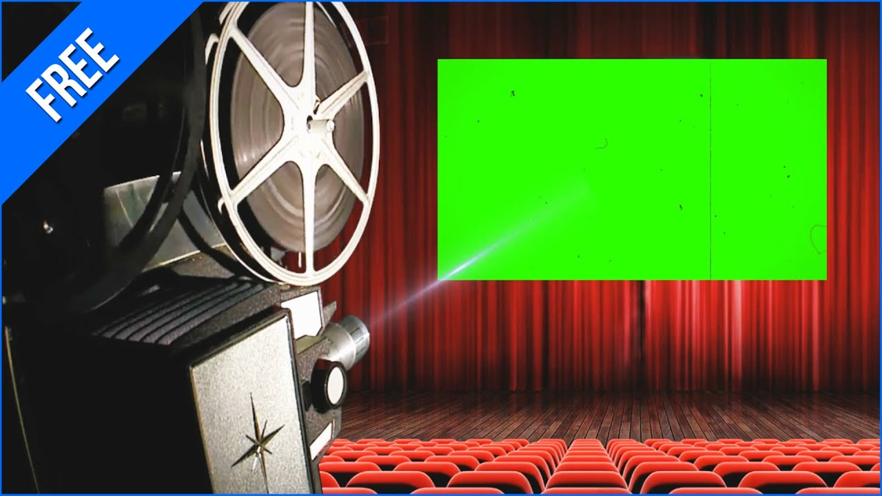 Projetor De Cinema 1 Movie Projector 1 Green Screen Chroma Key Youtube