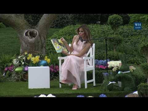 White House Easter Egg Roll: Reading Nook with First Lady Melania Trump