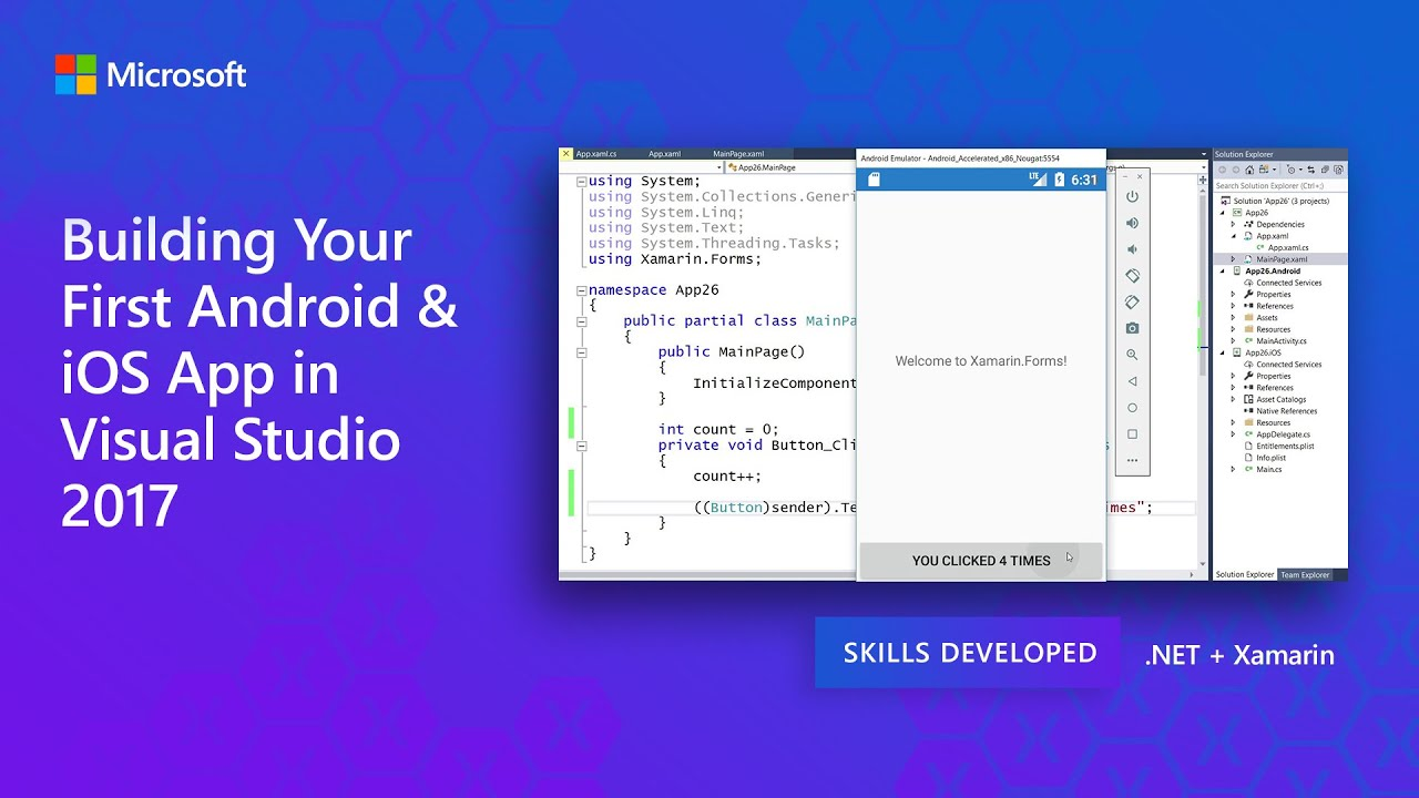 Building Your First Android & iOS App in Visual Studio 2017 | The
