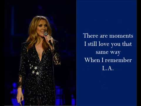 I Remember L.A. - Celine Dion - (Lyrics)