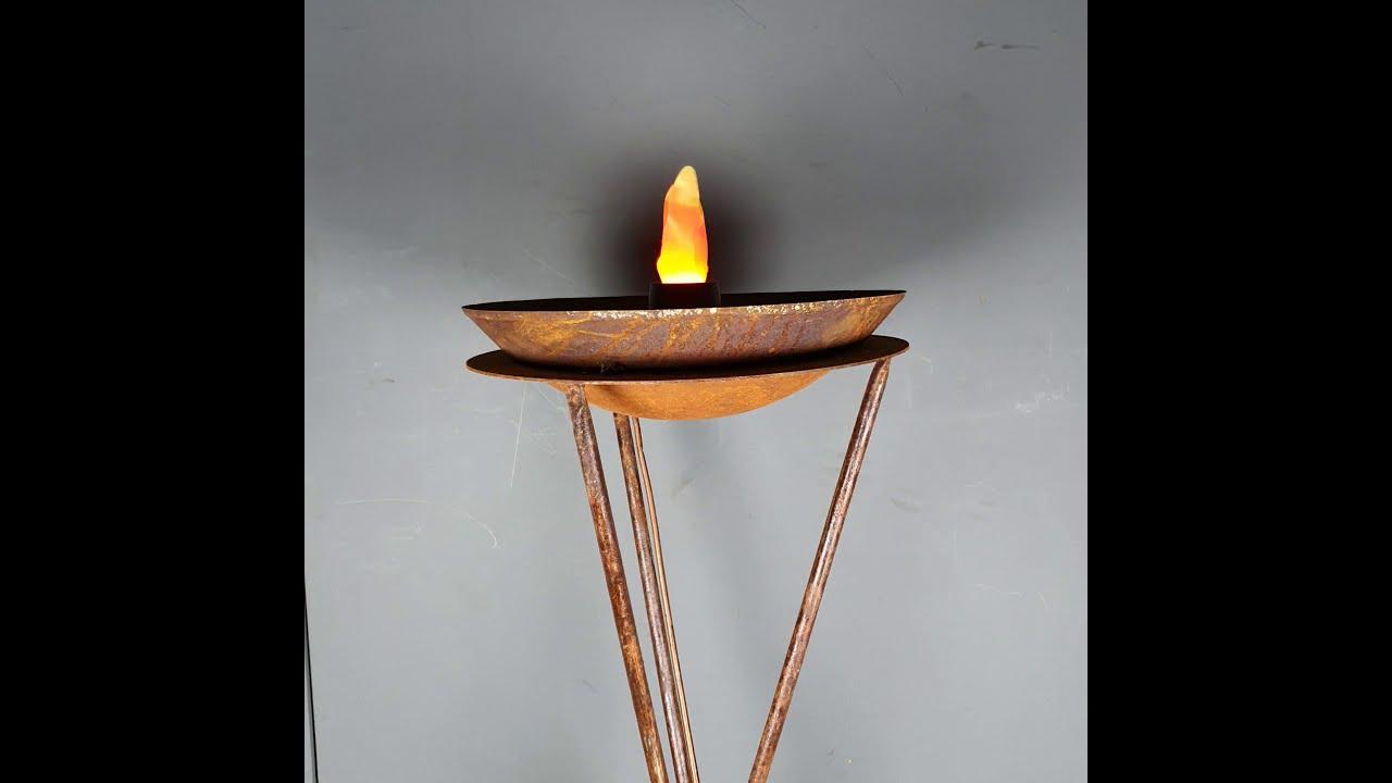 Flaming Bowl tripod