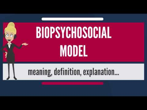 What is BIOPSYCHOSOCIAL MODEL? What does BIOPSYCHOSOCIAL MODEL mean?