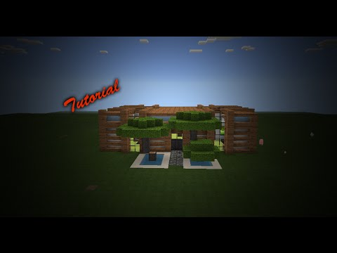 Tutorial 2 casa moderna minecraft pe youtube for Casa moderna minecraft 0 12 1