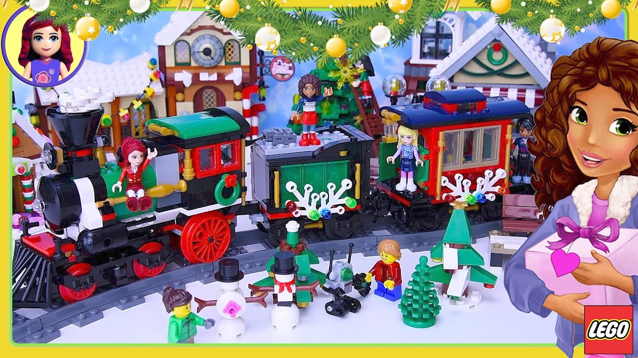 Lego Friends Christmas Sets.Lego Winter Village Holiday Train Build Review Christmas Lego Friends Kids Toys