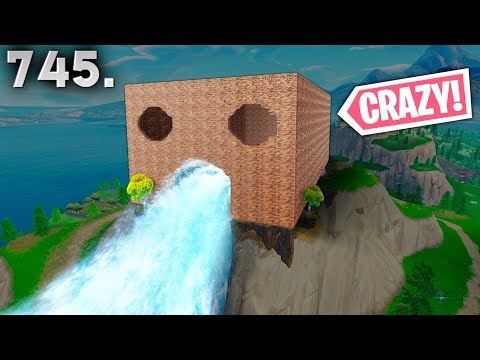 EPIC WATERFALL BASE!! - Fortnite Funny WTF Fails and Daily Best Moments Ep. 745
