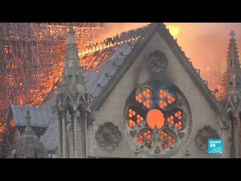 La catedral de Notre Dame está en llamas