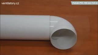 Jednoduché napojení PVC potrubí DALAP Ø 150mm, délka 0,5m na komponenty - CZ