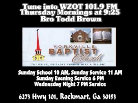 Bro Tony Richardson 1st message after being called to Preach   9 11 2016 Yorkville Baptist Church
