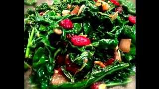 Italian Kale With Cranberries, Shallots And Port