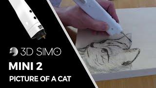 3d pen - Picture of a cat (3dsimo mini)