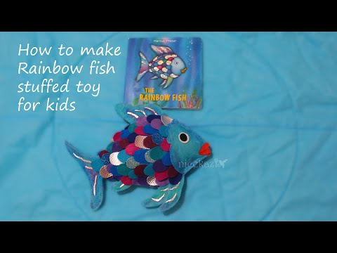 How To Make Rainbow Fish Stuffed Toy For Kids: From The Famous Book THE RAINBOW FISH