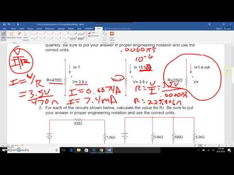 POE Electrical Circuit Calculations YouTube