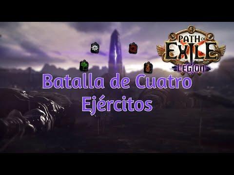 Jugando con Gamusín a Path of Exilie: Legion. Batalla con Cuatro Ejércitos.