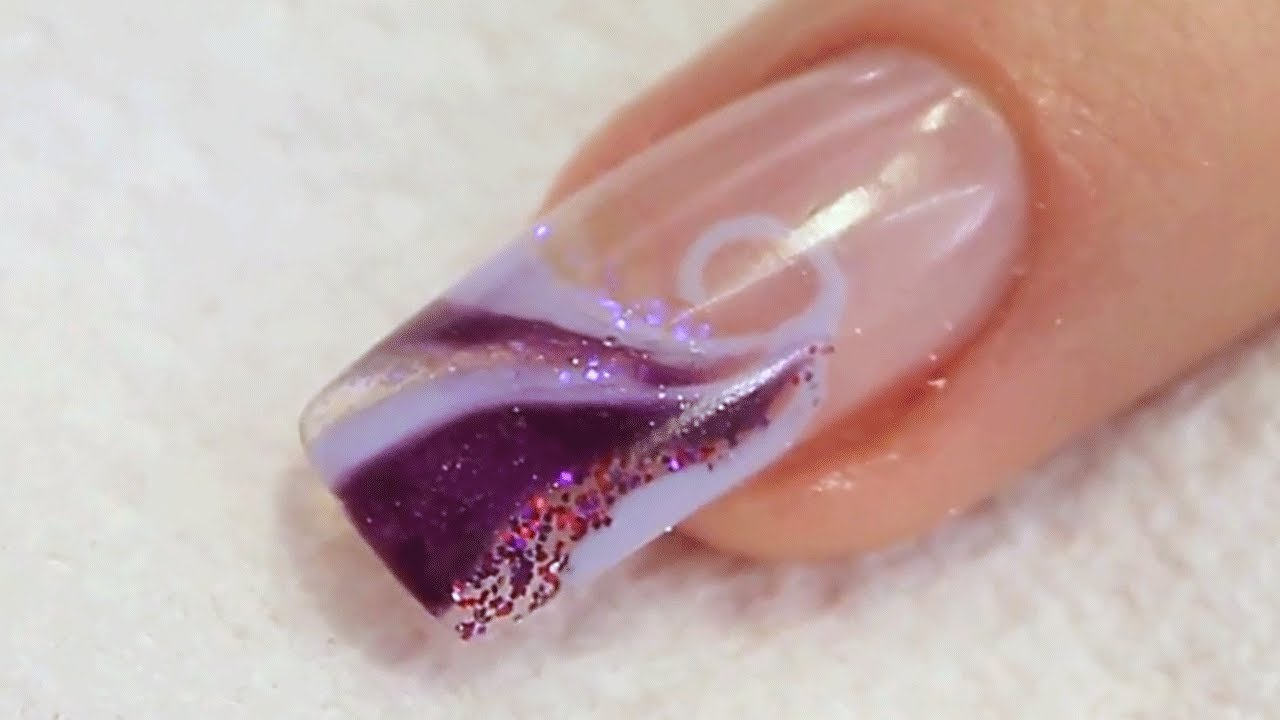 nail art uv gel video
