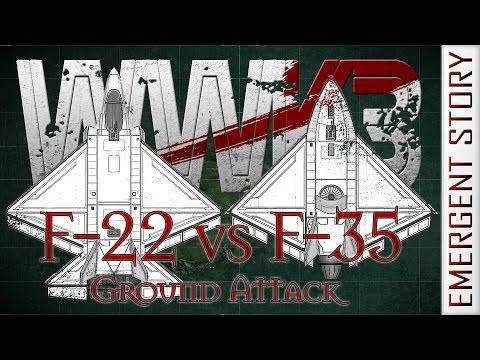 WWK3 #07 F-22 vs F-35 Ground Attack - World War K in Kerbal Space Program