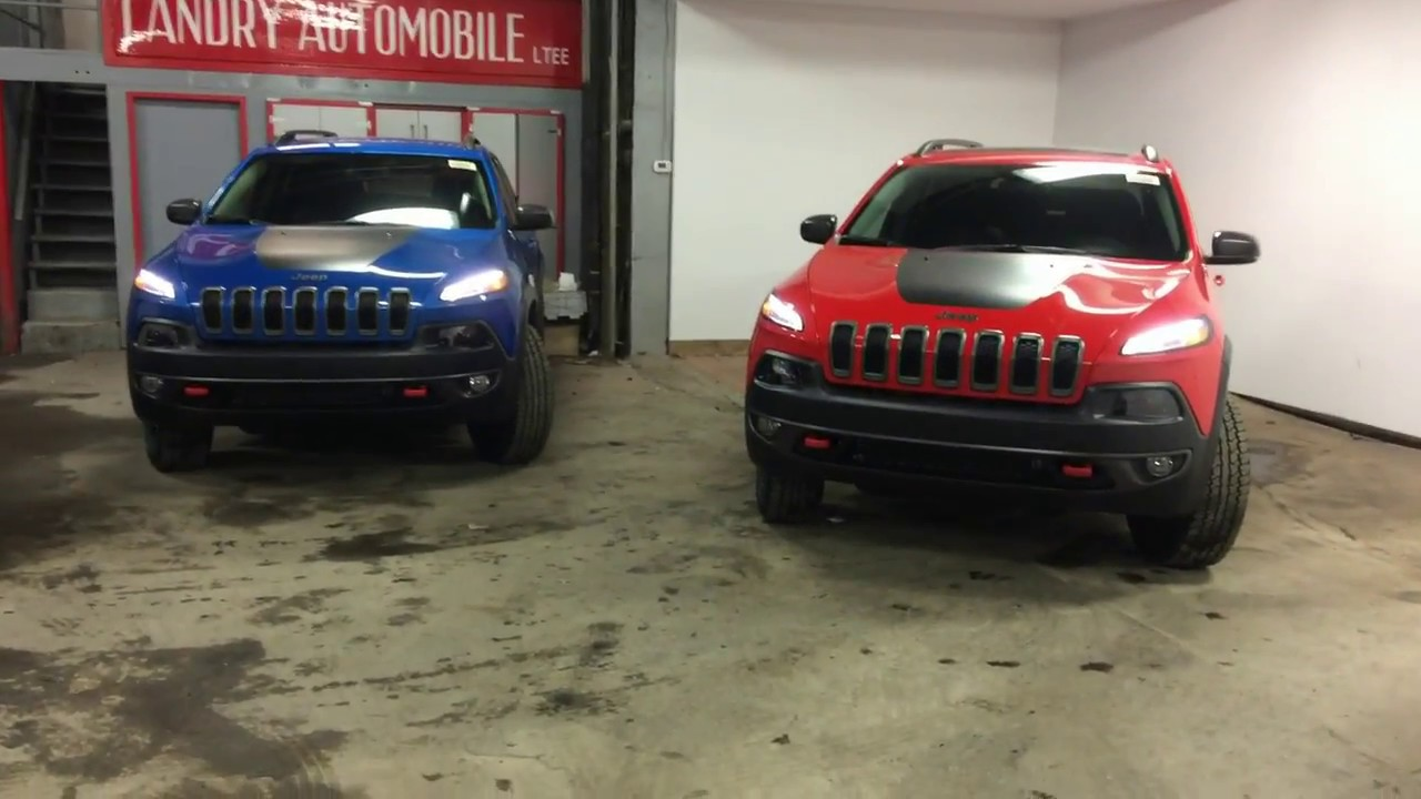 2017 Jeep Cherokee New Colors Fireer Red Hydro Blue