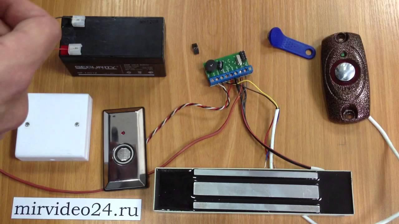 Контроллер Z-5R программирование ключей touch memory