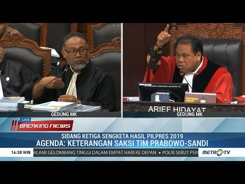 Panas! Detik-detik Hakim Ancam Usir Bambang Widjojanto dari Sidang MK ke-III