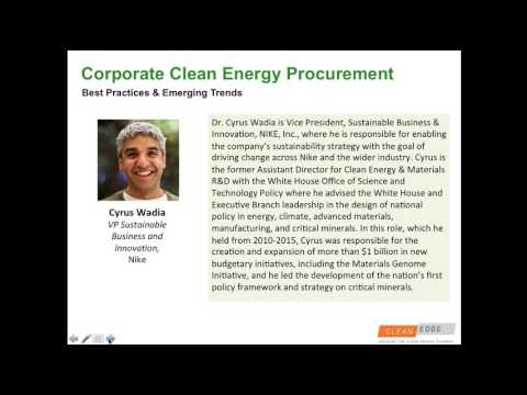 Corporate Clean Energy Procurement  Best Practices & Emerging Trends1469030491