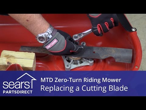 How To Replace An MTD Zero-Turn Riding Mower Cutting Blade