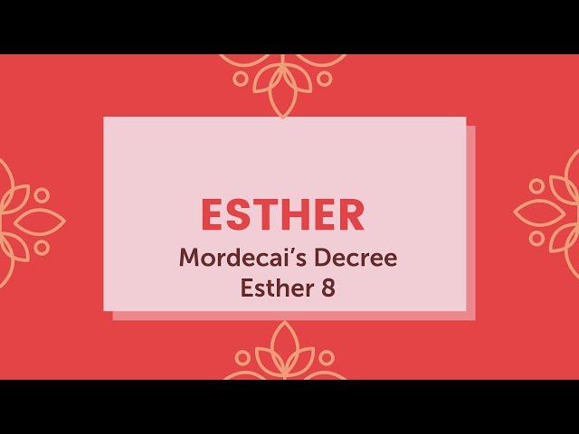 Mordecai's Decree