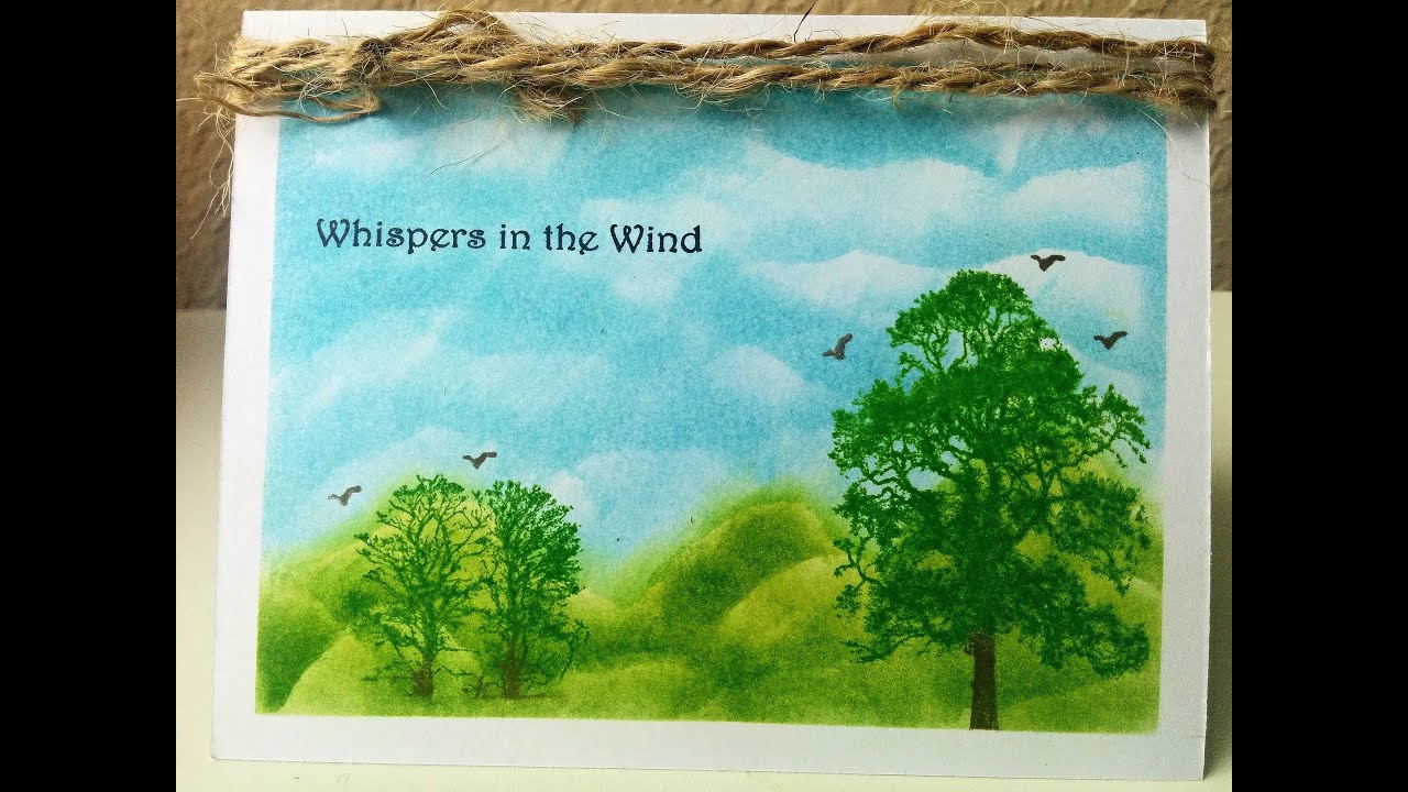 Scenic One Layer Greeting Card Using Distress Inks Card Making For