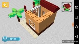 Construyendo casas. Draw bricks