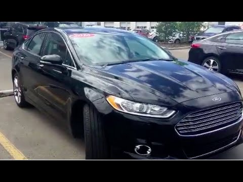 2016 Ford Fusion Anium Awd Sunroof North Edmonton Kia