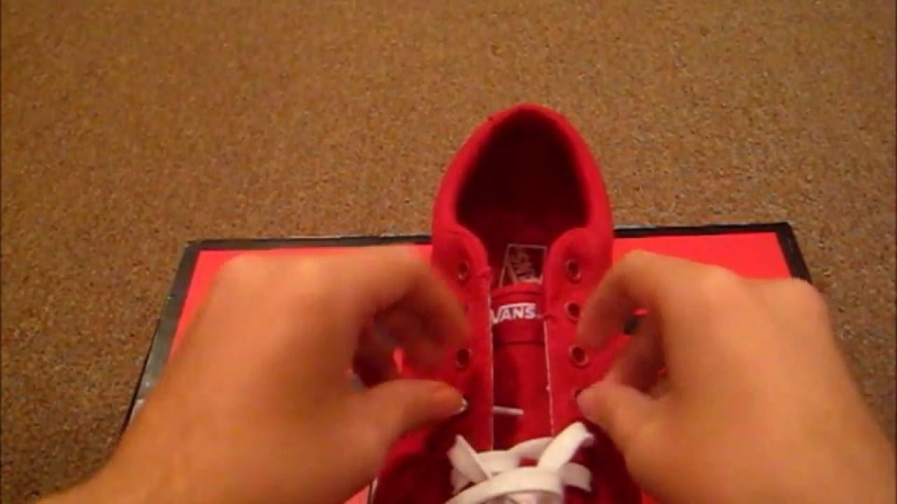 cf9ef18fd6c5 how to loop back lace vans - YouTube