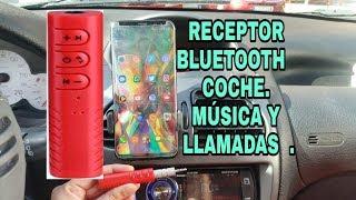 Receptor bluetooth para coche. Escucha música y llamadas.Convierte dispositivos en inalámbricos.