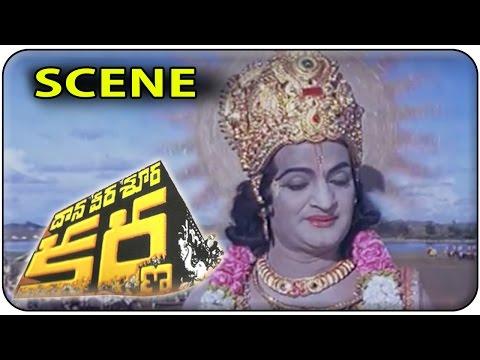 Sri Krishna Geethopadesam to Arjuna || Daana Veera Soora Karna || NTR , Sharada