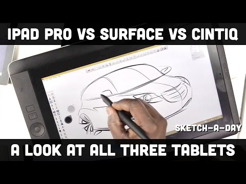 iPad Pro vs. Surface Pro vs. Wacom Cintiq Companion - a designer's comparison