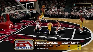 NCAA March Madness 2000 Gameplay Exhibition Match (PS1,PSX)