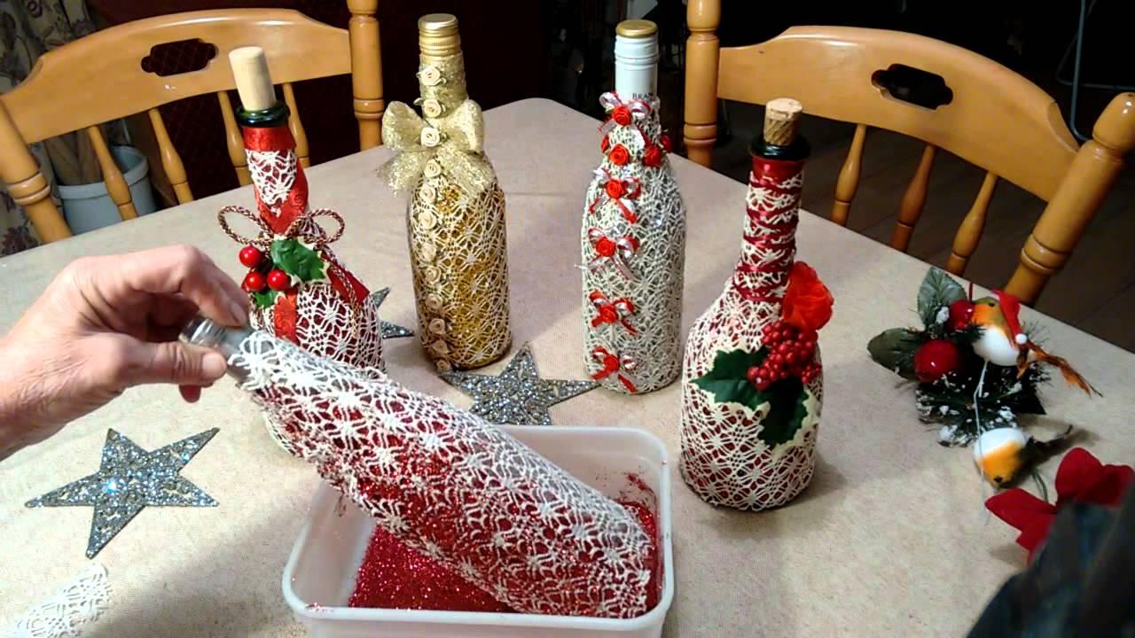 exquisitely decorated wine bottle youtube