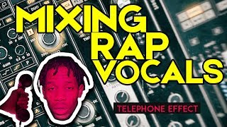 Modern Rap Vocals Effects | Mixing Tutorial - Telephone FX