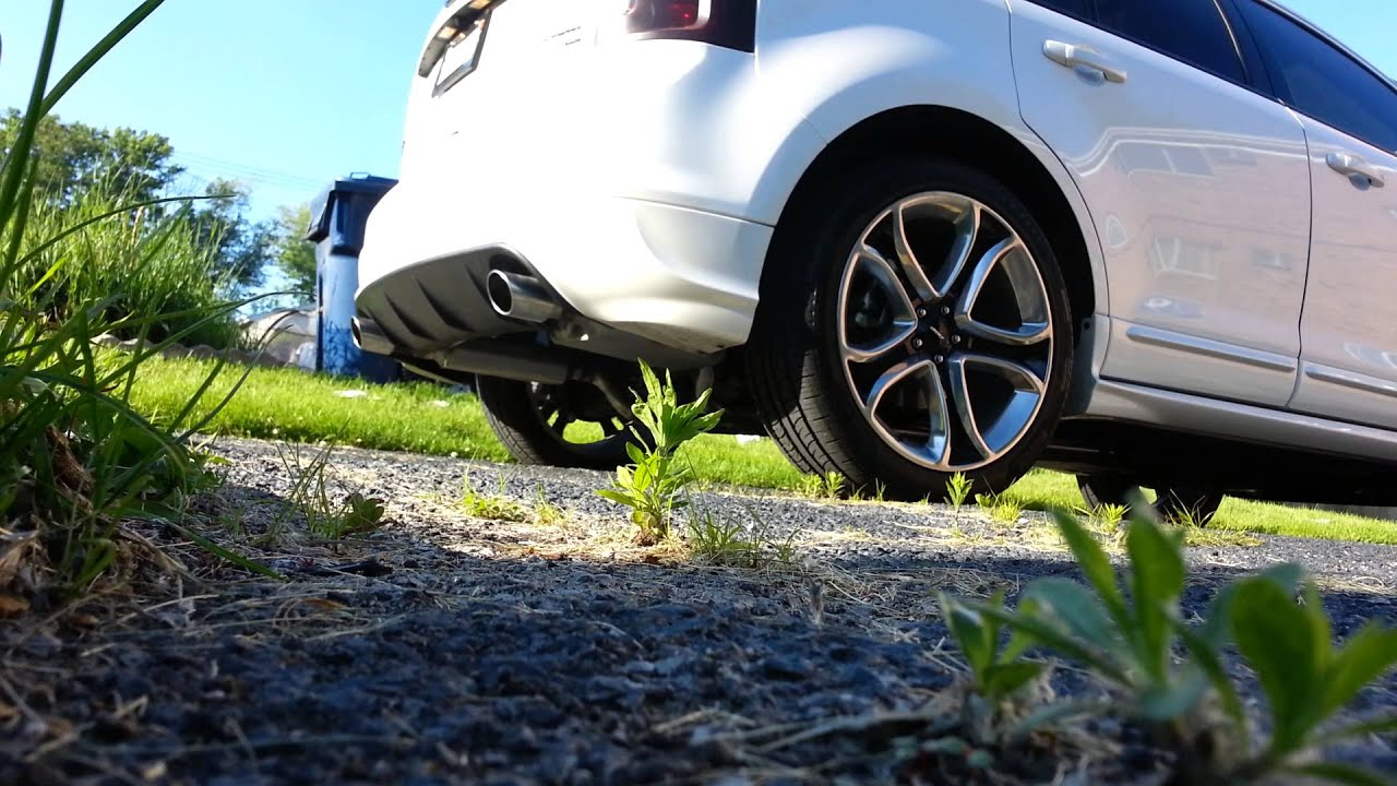2013 Ford Edge Sport True Dual Exhaust Flowmasters Youtube