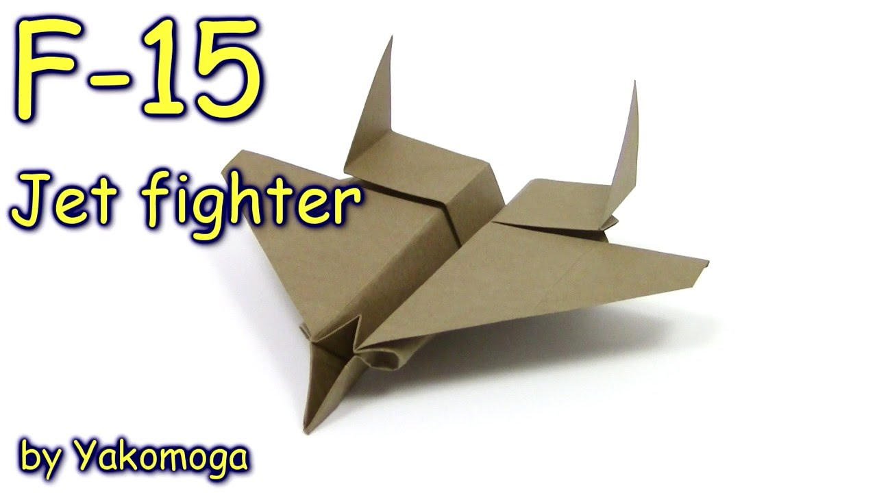 Origami f15 eagle jet fighter paper plane new design yakomoga origami f15 eagle jet fighter paper plane new design yakomoga origami dollar tutorial youtube jeuxipadfo Image collections