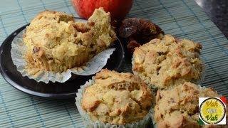 Apple & Date Muffins - By Vahchef @ Vahrehvah.com