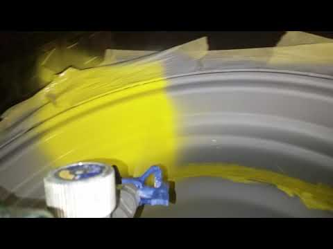 20180320_212337_Airless Spraying Graco X-Force HD | John Deere Tractor Wheels Top Coat Video #4