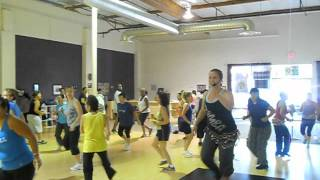 Fusion Fitness- Our ZUMBA Labor Day Class - Erica teaching Taqui Taqui