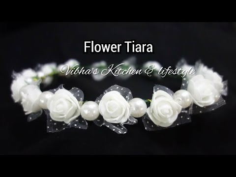 How to make a flower crown Tiara | Handmade Tiara | DIY Flower Crown | Floral Tiara