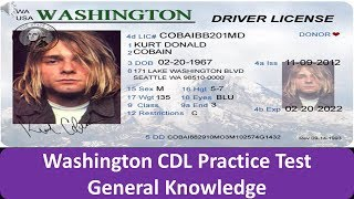 Washington CDL Practice Test General Knowledge
