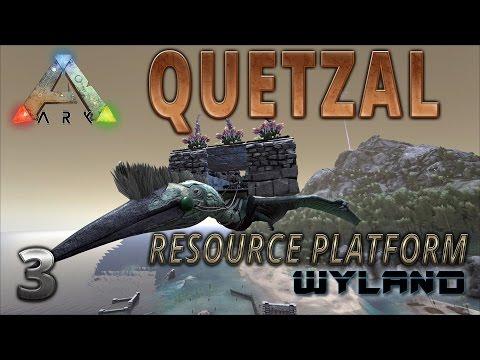 Ark Survival Evolved - Quetzal Platform Saddle How To Build for Resource Gathering
