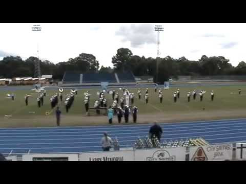 Rosepine High School Marching Band at DeRidder Marching Festival